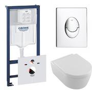 Инсталляция Grohe Rapid SL 38721001 + Villeroy&Bosch Avento 5656HR01 с сиденьем 9M77C101 Soft Close