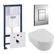 Инсталляция Grohe Rapid SL 38772001 + Villeroy&Bosch Avento 5656HR01 с сиденьем 9M77C101 Soft Close