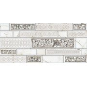 Плитка Интеркерама Plaza Серый Д 95 071 Декор