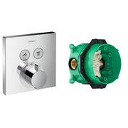 Термостат Hansgrohe ShowerSelect 15763000 + скрытая часть Hansgrohe Ibox Universal 01800180