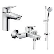 Набор смесителей для ванны Hansgrohe Logis 100 711714311 (71100000+71400000+27772000)