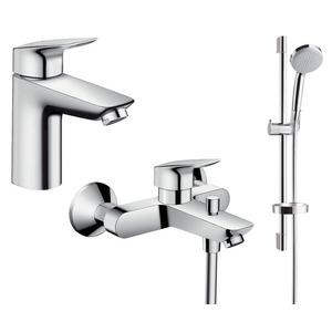 Фото Набор смесителей для ванны Hansgrohe Logis 100 711714311 (71100000+71400000+27772000)