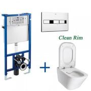 Инсталляция с унитазом Roca Pro A89009+890096+Gap A34H47C000 Clean Rim
