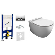 Инсталляция с унитазом Geberit Duofix 458.161.21.1 + Simas Vignoni Rimless VI18 + F85 + VI004 Soft Close