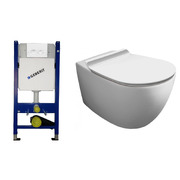 Инсталляция с унитазом Geberit Duofix 458.161.11.1 + Simas Vignoni Rimless VI18 + F85 + VI004 Soft Close