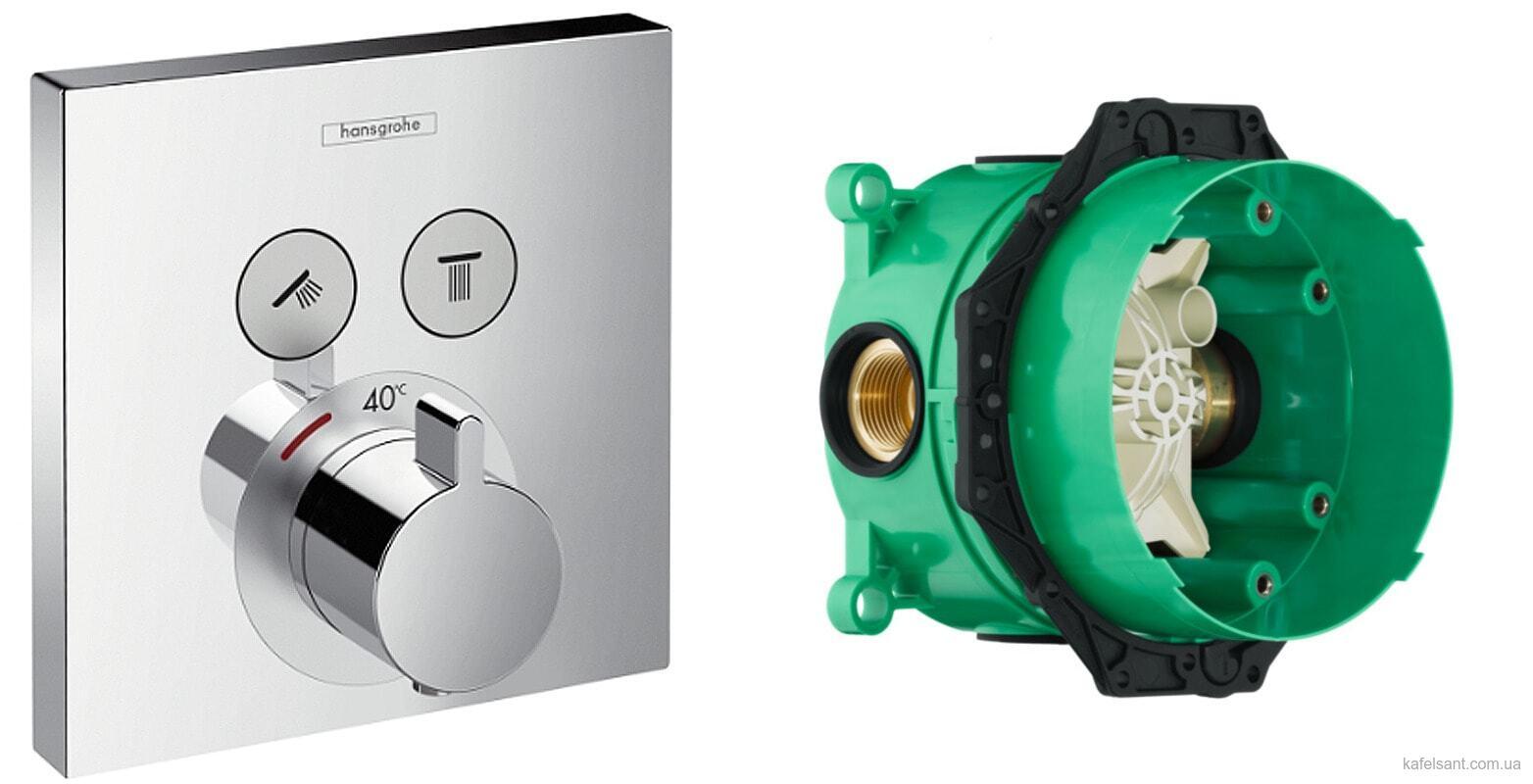 термостат Hansgrohe Showerselect 15763000 скрытая часть Hansgrohe Ibox Universal 01800180